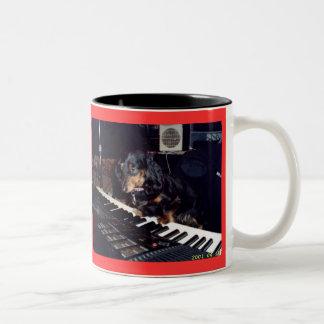 "DASCHUND MUG ""Heidi on Keyboards"" By Liberty Dog"