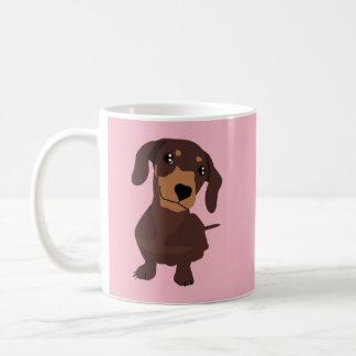 Daschund Sausage Dog Cute Puppy Pink Mug