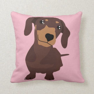 Daschund Sausage Dog Puppy Cute Pillow Cushion