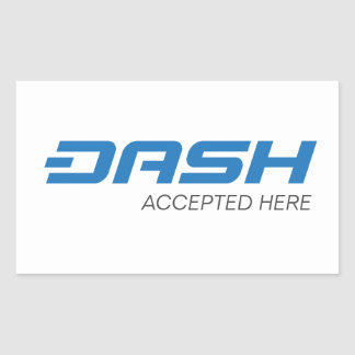 Dash Accepted Here Rectangle Stickers