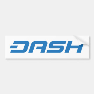 Dash Digital Cash Logo Symbol Coin Bumper Sticker