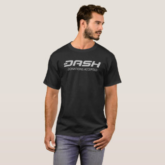 Dash Donations Accepted Cryptocurrency T-Shirt