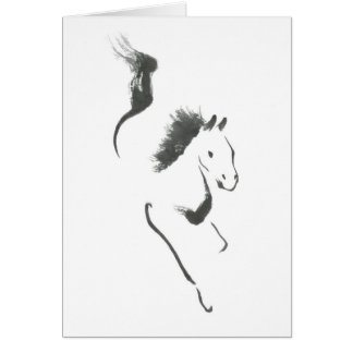 Dash to Safety, Sumi-e Year of the Horse Card
