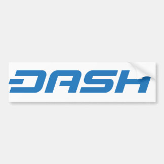 Dash White on Blue Bumper Sticker