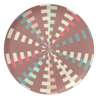 Dashed vortex party plate