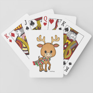 Dasher the Deer loves Christmas Playing Cards