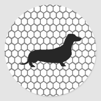 Dashing Dachshund Classic Round Sticker
