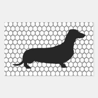Dashing Dachshund Rectangle Stickers