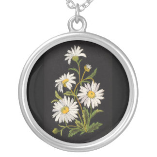 Dashing Daisies Round Sterling Silver Necklace