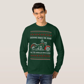 Dashing Down The Road On A Two Wheeled Open Sleigh T-Shirt