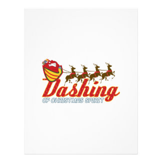 Dashing Of Christmas Spirit Letterhead
