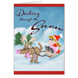 Dashing through the Snow Christmas Card