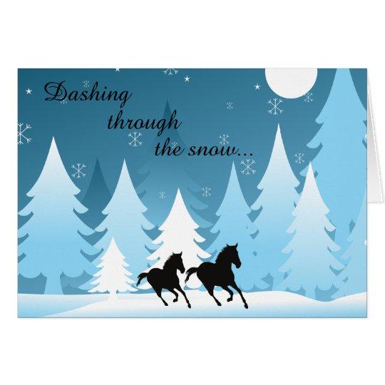 Dashing Through the Snow ~ Horse Holiday Christmas Card