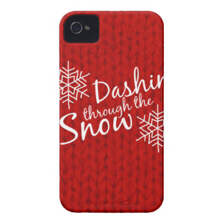 Dashing Through the Snow iPhone 4 Case-Mate Cases