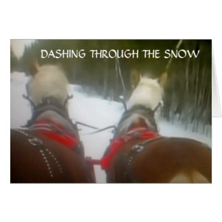 DASHING THROUGH THE SNOW THIS CHRISTMAS GREETING CARD