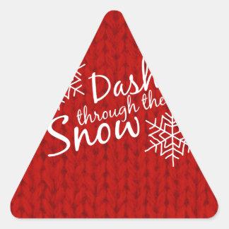 Dashing Through the Snow Triangle Sticker