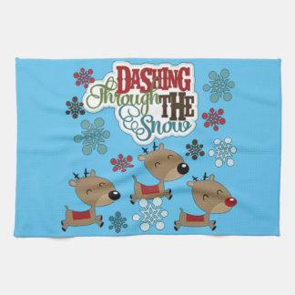Dashing Throw The Snow Hand Towel