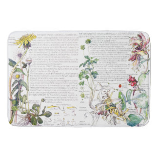 Dasiy Honeysuckle Flowers Garden Bath Mat