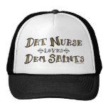 Dat Nurse Loves Dem Saints Trucker Hat