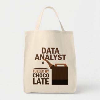 Data Analyst (Funny) Chocolate Tote Bag