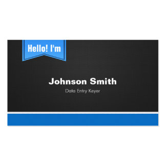 Data Entry Keyer - Hello Contact Me Business Card Templates