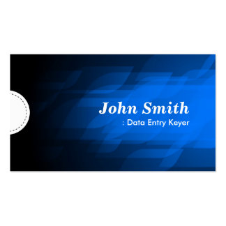 Data Entry Keyer - Modern Dark Blue Business Card Template