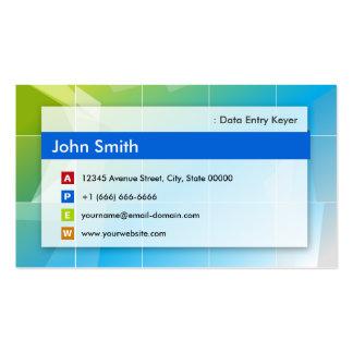 Data Entry Keyer - Modern Multipurpose Business Card Templates