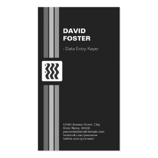 Data Entry Keyer - Premium Double Sided Pack Of Standard Business Cards