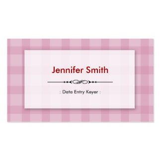 Data Entry Keyer - Pretty Pink Squares Business Card Template