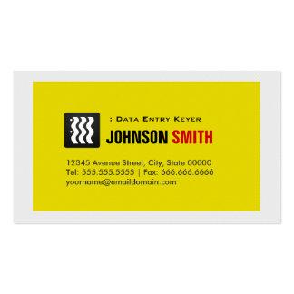 Data Entry Keyer - Urban Yellow White Business Card Templates