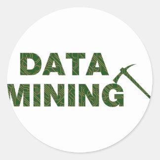 Data Mining Classic Round Sticker