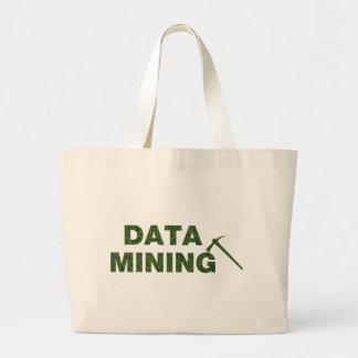 Data Mining Large Tote Bag