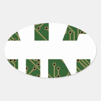 Data Mining Oval Sticker