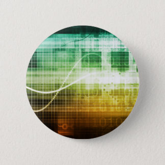 Data Protection and Internet Security Scanning 2 Inch Round Button
