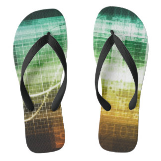 Data Protection and Internet Security Scanning Flip Flops