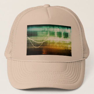Data Protection and Internet Security Scanning Trucker Hat