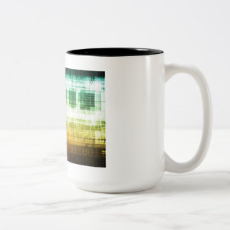 Data Protection and Internet Security Scanning Two-Tone Coffee Mug
