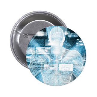 Data Protection and System Integrity as a Concept 2 Inch Round Button