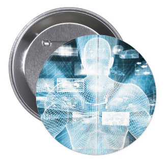 Data Protection and System Integrity as a Concept 3 Inch Round Button