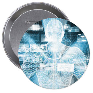 Data Protection and System Integrity as a Concept 4 Inch Round Button