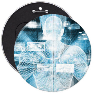 Data Protection and System Integrity as a Concept 6 Inch Round Button
