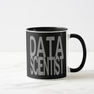 Data Scientist in Tall Silver Text Mug