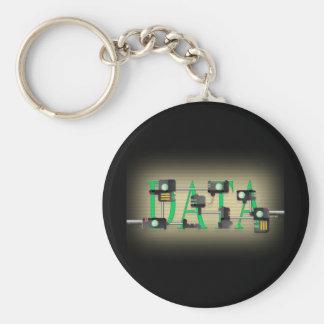 Data Security Basic Round Button Keychain