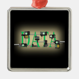 Data Security Metal Ornament