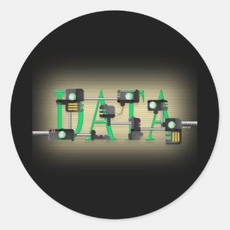 Data Security Round Sticker