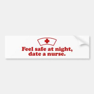 Date A Nurse Bumper Sticker