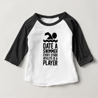 Date a Swimmer Baby T-Shirt