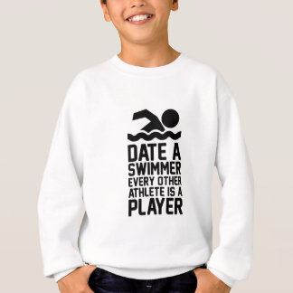 Date a Swimmer Sweatshirt
