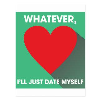 Date Myself Postcard