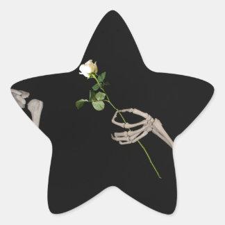Date night Cute skeleton couple Star Sticker